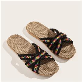 Zwart Boho Slippers