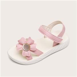 Platte sandalen met klittenband voor meisjes