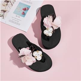 Schuifregelaars voor meisjes parel & bloemdecor