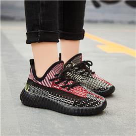 Colorblock-sneakers voor meisjes met veters