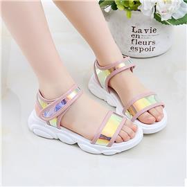 Holografische sandalen met enkelbandje voor meisjes