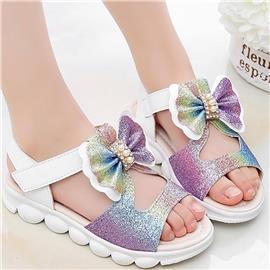 Sandalen met colorblock strik voor meisjes
