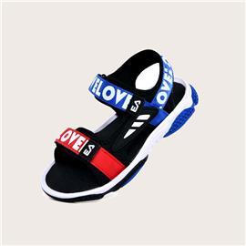 Jongens Colorblock Letter Gaphic sandalen met klittenband