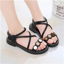 Metalen sandalen met gekruiste bandjes voor meisjes