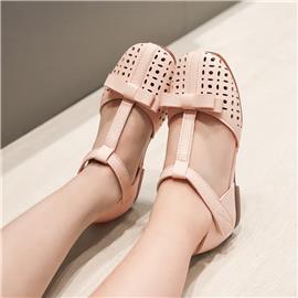 Meisjes geperforeerde sandalen met strik