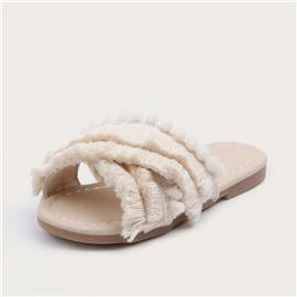Peutermeisjes Criss Cross Fringe Sliders