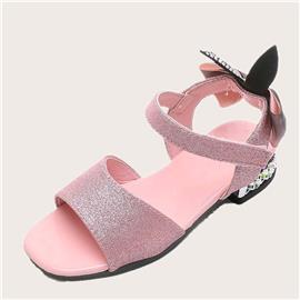 Meisjes glitter decor sandalen met enkelbandjes