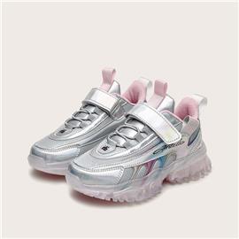 Holografische pluche voor meisjes in stevige sneakers