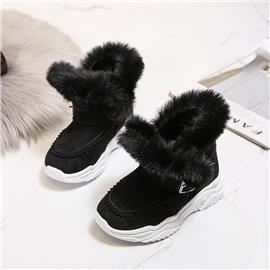 Gevoerde laarzen met imitatiebontvoering voor meisjes