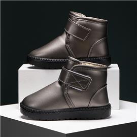 Laarzen met klittenband, gevoerd met imitatiebont voor jongens