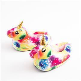Kleurrijke pantoffels met eenhoornmotief voor meisjes
