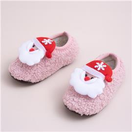 Peuter meisjes Christmas Santa Decor pluizige pantoffels