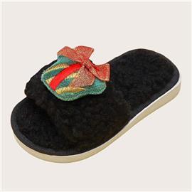 Peuter meisjes kerst Decor pluizige pantoffels