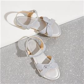 Glitter sandalen met gekruiste bandjes voor meisjes