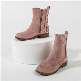 Laarzen met blokhak en bloemenborduurwerk voor meisjes