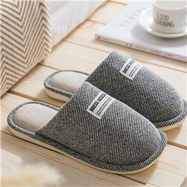 Mannen ronde neus brief patch slippers