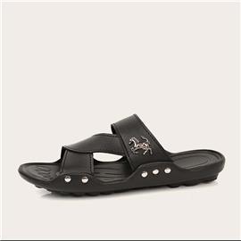 Zwart Vlak Heren flipflops & Slippers