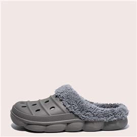 Heren pantoffels van imitatiebont