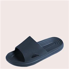 Vlak Heren slippers Uitgeknipt