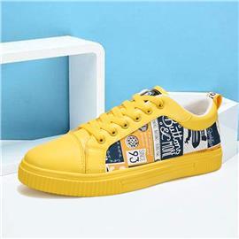 Heren letter grafische sneakers met veters aan de voorkant