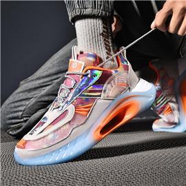 Heren sneakers met holografisch detail