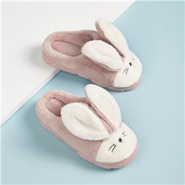 Slippers met konijnmotief