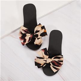 Bow Decor Slippers met open teen