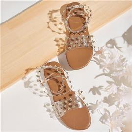 Spiked Decor doorzichtige sandalen met enkelbandje