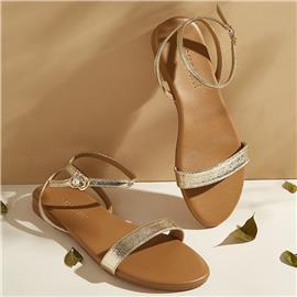 Metallic sandalen met enkelbandjes