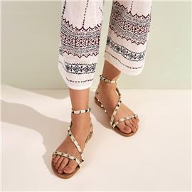 Sandalen met studs met enkelbandjes