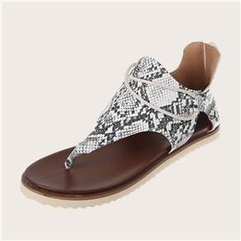 Sandalen met slangenprint