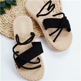Criss Cross Slingback Suede sandalen
