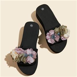 Bloemen Slippers Appliques