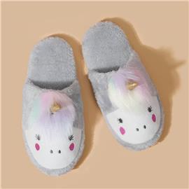 Cartoon Design Fluffy Slippers