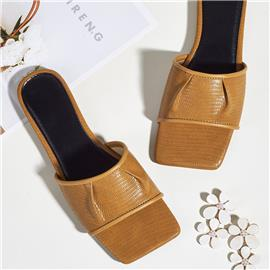 Sandalen met geplooid detail