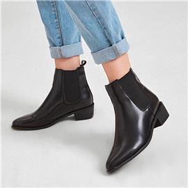 Chelsea boots met dikke hak
