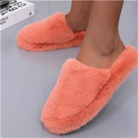 Minimalistische pluizige pantoffels met brede pasvorm