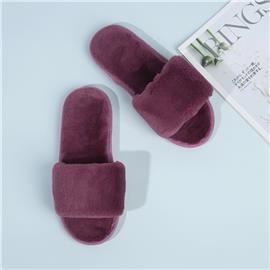 Pluizige pantoffels met open teen