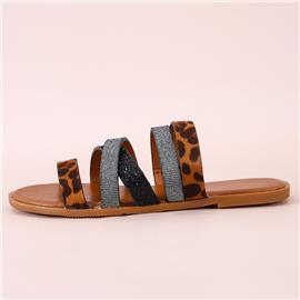 Sandalen met luipaardprint