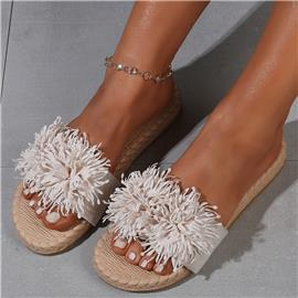 Floral sandalen