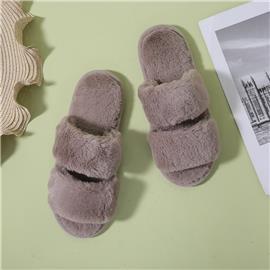 Zachte pantoffels met dubbele bandjes