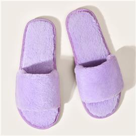 Minimalistische pluizige pantoffels met open teen