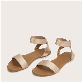 Platte sandalen met enkelbandje