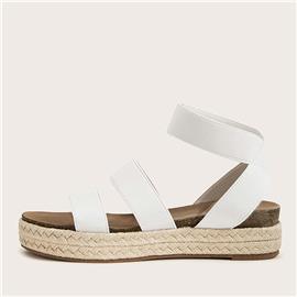 Minimalistische sandalen met enkelbandje met dubbele band