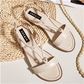 Sandalen met enkelbandje en open teen