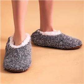 Pluizige pantoffels met brede pasvorm