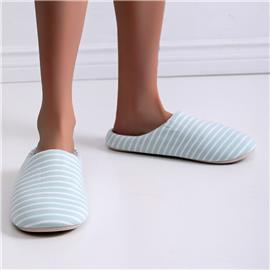 Gestreepte, grafische pantoffels met brede pasvorm