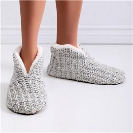 Minimalistische gebreide pantoffellaarzen