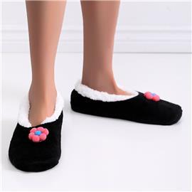 Zachte pantoffels met bloemendecoratie
