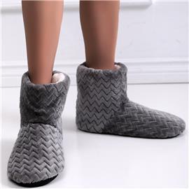Rechthoekige pantoffels met voering van imitatiebont
